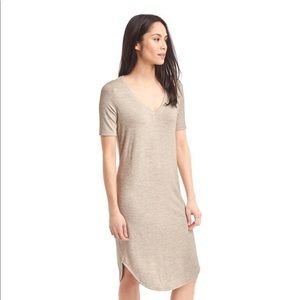 Gap Softspun Knit V-Neck Midi Dress